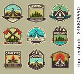 retro vector vintage camp label ... | Shutterstock .eps vector #348809990