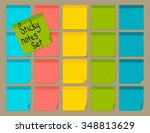 blank colorful sticky notes set.... | Shutterstock .eps vector #348813629