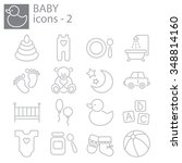 web icons set   baby toys ... | Shutterstock .eps vector #348814160