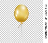 gold balloon. transparent... | Shutterstock .eps vector #348821513