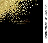 vector black and gold luxury... | Shutterstock .eps vector #348821714