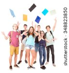 teenagers at school isolated in ... | Shutterstock . vector #348823850