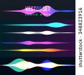 Color Set Sound Waves Lights...