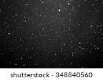 falling snow on black... | Shutterstock . vector #348840560