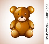 vector teddy bear | Shutterstock .eps vector #348840770