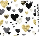 seamless lovely pattern with... | Shutterstock .eps vector #348847070
