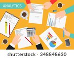 business analytics and... | Shutterstock .eps vector #348848630