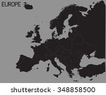 silhouette of the continent... | Shutterstock . vector #348858500