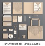 beige corporate identity... | Shutterstock .eps vector #348862358