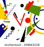 abstract geometric vector...
