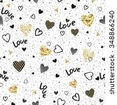 seamless pattern of randomly... | Shutterstock .eps vector #348866240