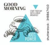 vector background. hand drawn... | Shutterstock .eps vector #348867410