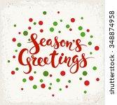 Season's Greetings Vector Card...