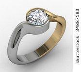 Solitaire Two Tone Diamond...