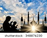 concept of the islamic religion.... | Shutterstock . vector #348876230