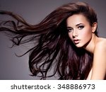 portrait of the beautiful ... | Shutterstock . vector #348886973