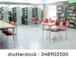 abstract blur library interior... | Shutterstock . vector #348903500