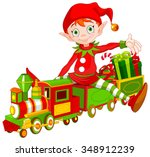 illustration of cute christmas... | Shutterstock .eps vector #348912239