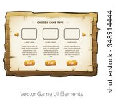 choose game type screen. vector ...