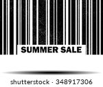 summer sale   black barcode... | Shutterstock . vector #348917306