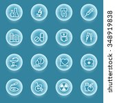 medicine white icons with... | Shutterstock .eps vector #348919838