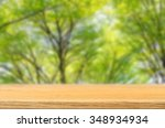 wooden table top with... | Shutterstock . vector #348934934