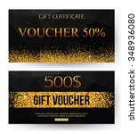 gift voucher template. vector... | Shutterstock .eps vector #348936080