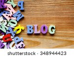 blog    word made from... | Shutterstock . vector #348944423