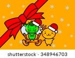 animal series of christmas frame   Shutterstock . vector #348946703
