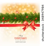 merry christmas card with a... | Shutterstock .eps vector #348947984