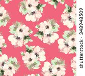 seamless pattern with flowers... | Shutterstock . vector #348948509