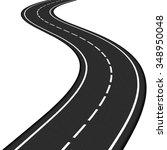 black asphalt road on white... | Shutterstock .eps vector #348950048