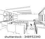 outline sketch drawing... | Shutterstock .eps vector #348952340