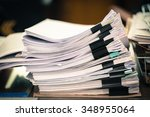 stack of business papers with... | Shutterstock . vector #348955064
