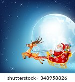 illustration of happy santa in... | Shutterstock .eps vector #348958826