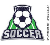 vector illustration of soccer  | Shutterstock .eps vector #348963164