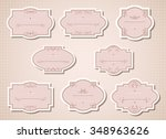 vector set of labels and tags... | Shutterstock .eps vector #348963626