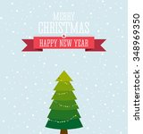 christmas card design with the... | Shutterstock .eps vector #348969350