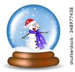 christmas snowglobe with... | Shutterstock .eps vector #348977438