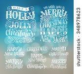 vector set of holidays... | Shutterstock .eps vector #348978623
