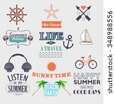 retro elements for summer...   Shutterstock .eps vector #348988556
