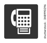fax vector icon. style is flat... | Shutterstock .eps vector #348990296
