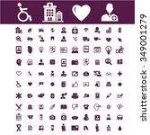 health care  medicine  icons ... | Shutterstock .eps vector #349001279