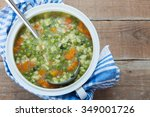 vegetable soup | Shutterstock . vector #349001726