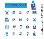 doctor  clinic  icons  signs... | Shutterstock .eps vector #349006448