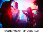 young people dancing in... | Shutterstock . vector #349009760