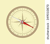 compass. vintage wind rose.... | Shutterstock . vector #349010870