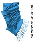 blue scarf isolated on white | Shutterstock . vector #34901158