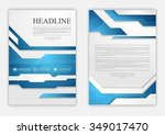 abstract blue geometric tech... | Shutterstock .eps vector #349017470