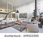interior view of a modern... | Shutterstock . vector #349023500